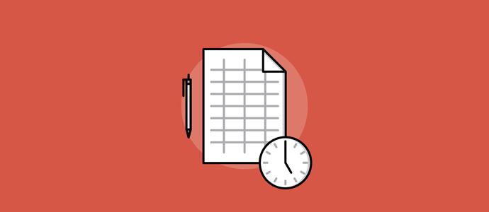 timesheet clock graphic