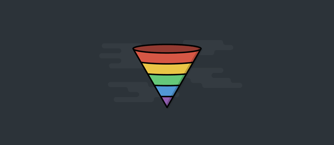stylised marketing funnel