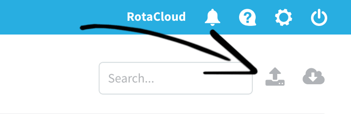 screenshot of how to import CSV in RotaCloud