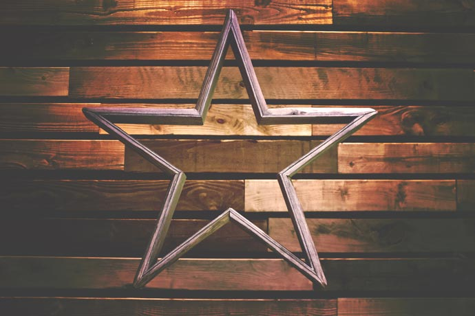 image of star against brick background