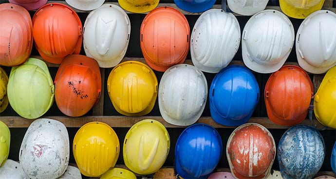 hard hats for training