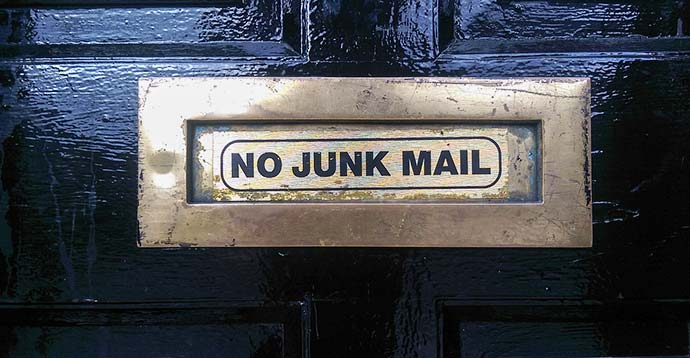 letterbox no junk mail