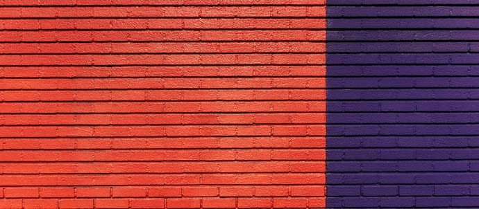 red and blue colour blocks