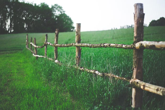 rickety wooden fence