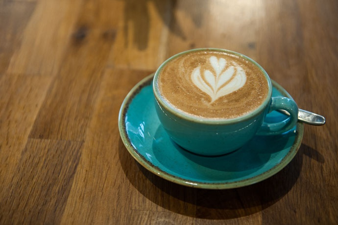 latte art at Robinsons