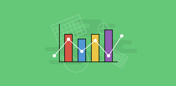illustration of charts, graphs, figures